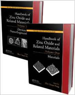 HANDBOOK OF ZINC OXIDE AND RELATED MATERIALS, 2 VOL SET